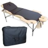 Massageliege Alu Massage Bank beige braun Massagebank