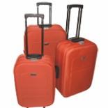 Koffer Set EVA Trolley 3-er Polyester in orange Reisekoffer