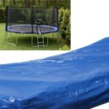 Trampolin Randabdeckung 460 cm Feder Abdeckung blau 15FT PVC