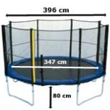 Intertek XXL Trampolin 4 Meter 13 FT mit Netz Leiter Plane