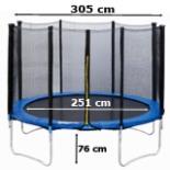 Intertek XXL Trampolin 3 Meter 10 FT mit Netz Leiter Plane