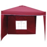 Alu Pop-Up Faltpavillon mit Seitenteilen 3 x 3 m rot