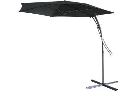 ampelschirm schwarz 3 m sonnenschirm mit fuss schirm sonnenschutz sonne neu ebay. Black Bedroom Furniture Sets. Home Design Ideas