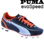 Puma Fußballschuhe evoSPEED Größe 40,5 schwarz weiß orange