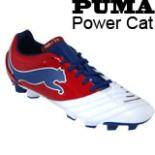 Puma Fußballschuhe Power Cat Größe 42,5 rot weiß blau