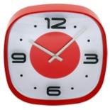 Wanduhr 30 cm rund Küchenuhr Bürouhr Uhr 3 D Effekt rot