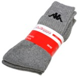 Socken Sportsocken 3-er Pack KAPPA grau 39-42 Tennissocken