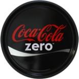 Coca Cola Zero Tablett rund 33 cm Ø Schwarz  Serviertablett