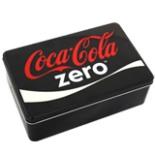Coca Cola Zero Vorratsdose aus Metall eckig schwarz rot