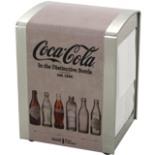 Coca Cola Kult Serviettenbox aus Metall Beige im Retro Stil