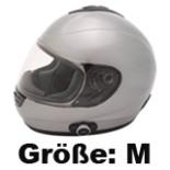 Motorrad Roller Integral Helm mit Bluetooth  Größe M silber