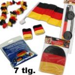 Deutschland Fan-Set 7 tlg. für Auto Fussball Fußball Fahne