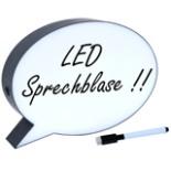 LED Leuchtbox Sprechblase beschreibbar mit Stift & Radierer