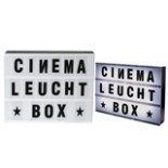 LED Cinema Leuchtbox mit Buchstaben & Symbolen Reklametafel