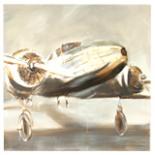 Flugzeug Wandbild mit 3D Effekt 65 x 65 x 2,5cm Flieger Bild